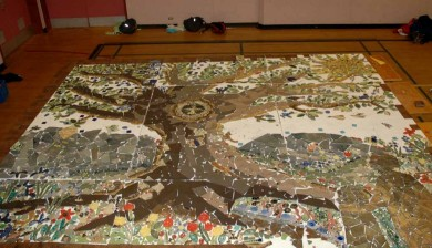Ecole Quadra - Tree Mosaic